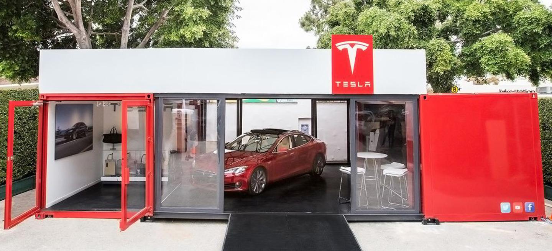Concesionario portátil Tesla