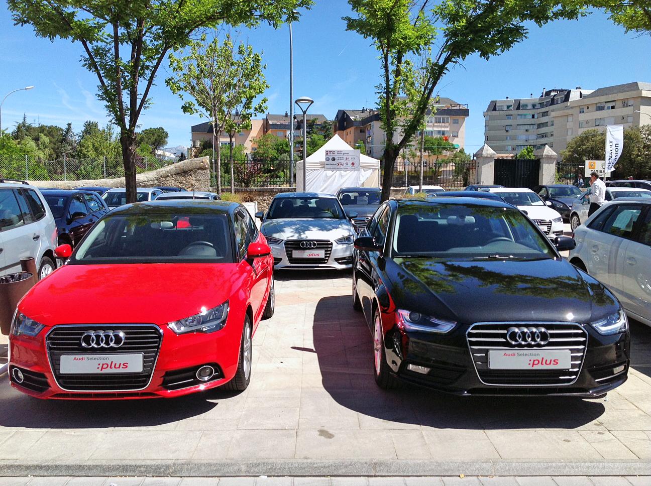 Exposición de coches a la venta