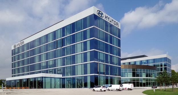 edificio de la marca hyundai