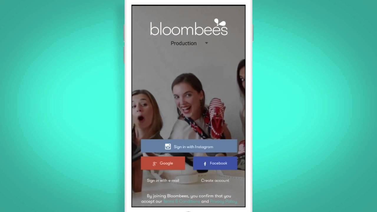 Venta en redes sociales con app de Bloombees